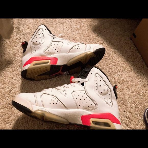 Jordan Other - Air Jordan 6 Infrared white high top cefa65ffcbe2